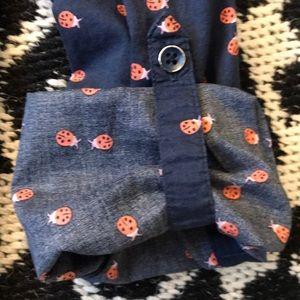 Sonoma Tops - Ladybug button up shirt